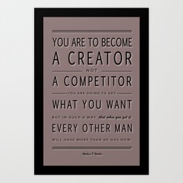You are to Become a Competitor Typography Poster Art Print