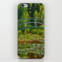 Claude Monet Impressionist Landscape Oil Painting-The Japanese Footbridge and the Water Lily Pool iPhone Skin