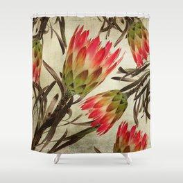 Vintage Repens Proteas Shower Curtain
