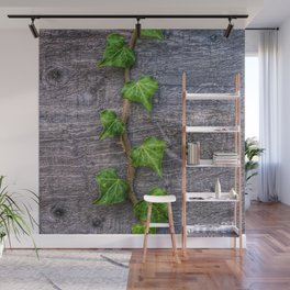 Ivy on Wood Wallpaper Wall Mural