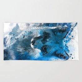 Arctic Fox #fox Beach Towel