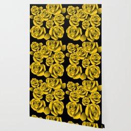 Yellow Halftone Roses Wallpaper