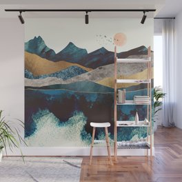 Blue Mountain Reflection Wall Mural