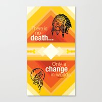 native american Canvas Prints featuring Native American by Chris Cammarota