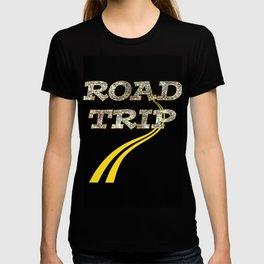 Road Trip Yellow Lines T-shirt