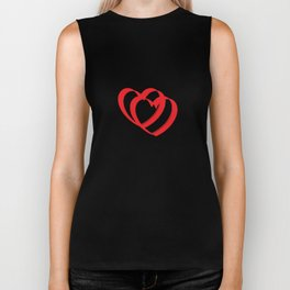 Hearts in black Biker Tank