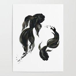Koi fishes Poster