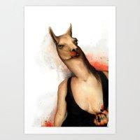 lama Art Prints featuring lama by Andrei Moldovan