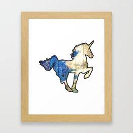 Wooden Unicorn Sign Framed Art Print
