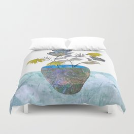 Country flowers Duvet Cover