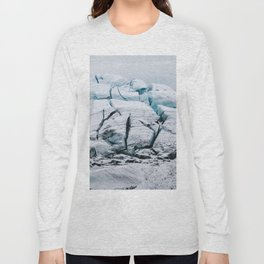 Glacial World of Iceland - Landscape Photography Long Sleeve T-shirt