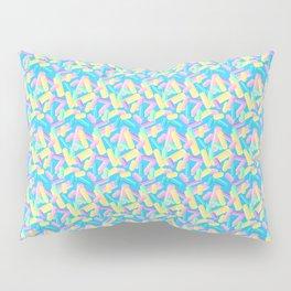 Pastel Jimmy Candy Pattern on Blue Pillow Sham