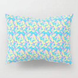 Pastel Jimmy Candy Pattern on Blue Pillow Sham