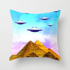 Aliens Built it Throw Pillow