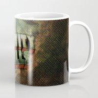gravity falls Mugs featuring Gravity Falls Title by Amelia Bombace