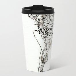 Tattooed Lady Metal Travel Mug