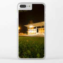 Bus and trainstation Clear iPhone Case
