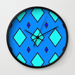 Blue Diamond 2 Wall Clock