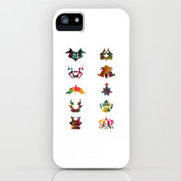 Collection of Rorschach inkblot tests iPhone Case
