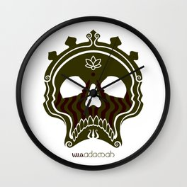 Skull Bronze Wall Clock