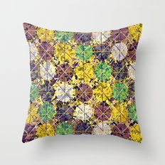 Pattern circles joined Throw Pillow
