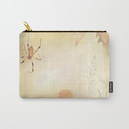 Autumn background with a spider and leaves Carry-All Pouch