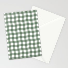 Plaid (sage green/white) Stationery Cards