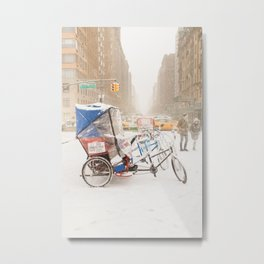 NYC Snow Day on Central Park West Metal Print