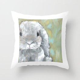 Flopsy the Bunny Throw Pillow