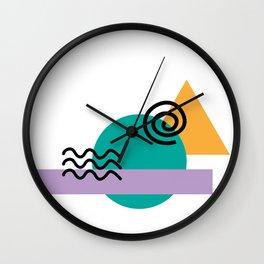 deconstructed spiral sunset Wall Clock