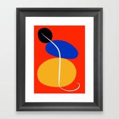 Red Zen Minimal Abstract Framed Art Print