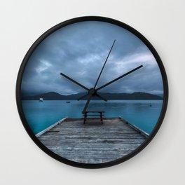 NEW ZEALAND MARLBOROURGH SOUNDS SUNRISE NO.2 Wall Clock