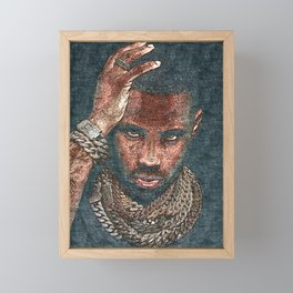 𝐇.𝕋.Ǥ.b.ㄚ. Heavy Hand Jewelry Iced Out Diamond Chains Fabolous Rap Hip Hop Framed Mini Art Print