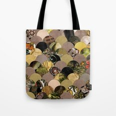 Autumn Scalloped Pattern Tote Bag