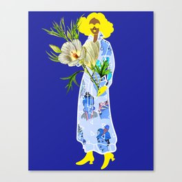 Faces on Her Dress Canvas Print