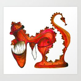 Hungry Fire Hydrant Art Print