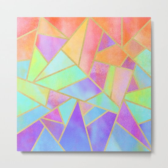 Rainbow Stone Metal Print