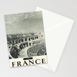 retro Plakat france nimes les arenes Stationery Cards