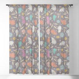 Garden Flowers Style E Sheer Curtain