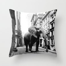 Street walker II Throw Pillow