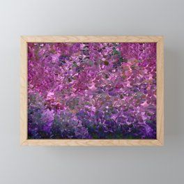 Floral Fantasy Spring Abstract Framed Mini Art Print