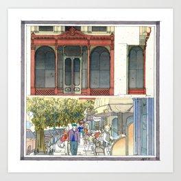 Filmore Street Shopfronts Art Print