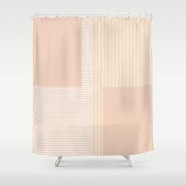 Figaro in Tan Shower Curtain