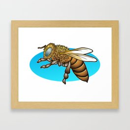 Zzoe, my favorite bee Framed Art Print