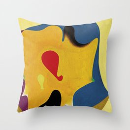 Joan Miro Head of a Man Throw Pillow