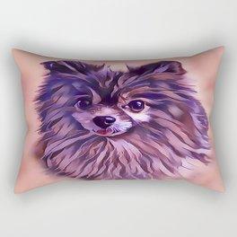 The Brindle Pomeranian Rectangular Pillow