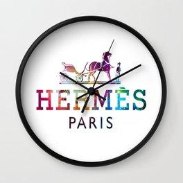 paris Logo galaxy Wall Clock