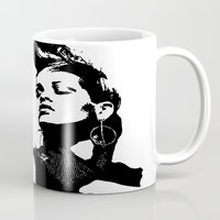 rihanna Mugs featuring Rihanna. by Christine DeLong Creative Studio