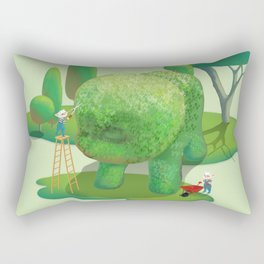 The Topiary Dog Rectangular Pillow