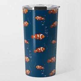 Clown fish illustration pattern Travel Mug